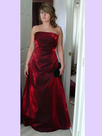 Dark red prom dress